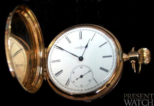 1884 Elgin 14K Hunters Pocket Watch