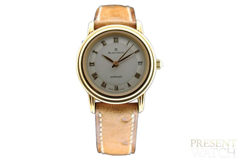 Blancpain, Ref. 170. Yellow gold lady's wristwatch with cream dial